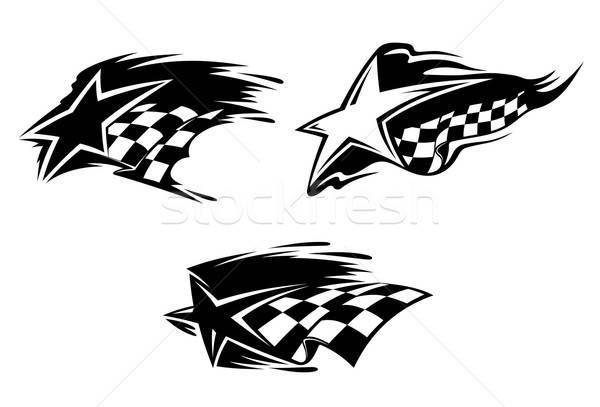Versenyzés szimbólumok szett sportok terv sport Stock fotó © anbuch