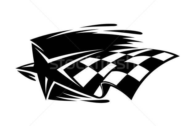 Motor esportes ícone estrela bandeira Foto stock © anbuch