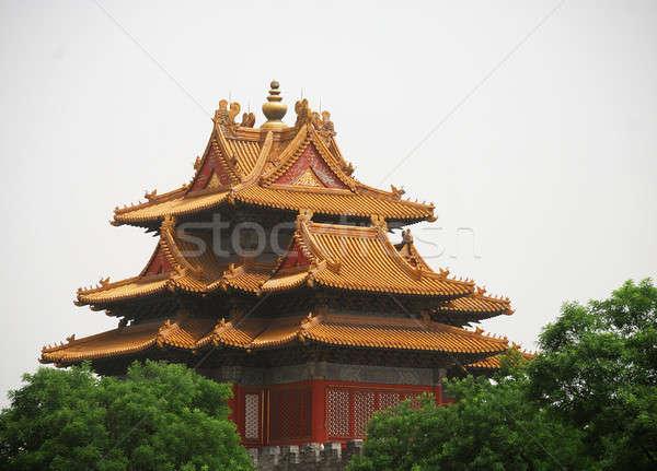 Eski tapınak güzel köşe yasak Şehir Bina Stok fotoğraf © anbuch