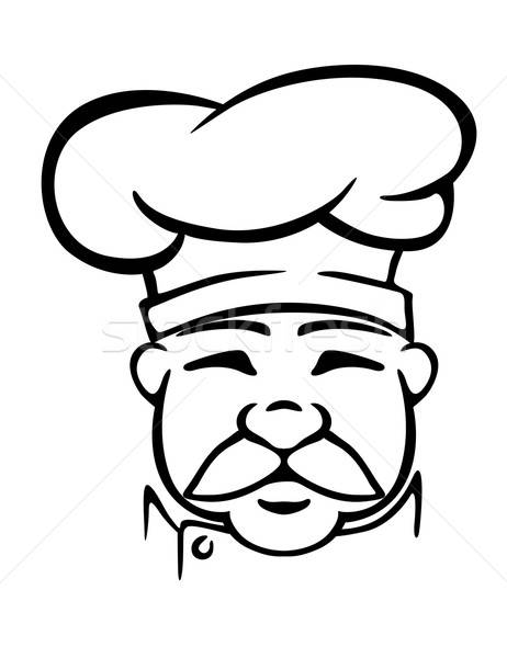 Chef in traditional uniform Stock photo © anbuch