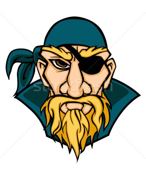 Peligro cabeza Cartoon estilo hombre diseno Foto stock © anbuch