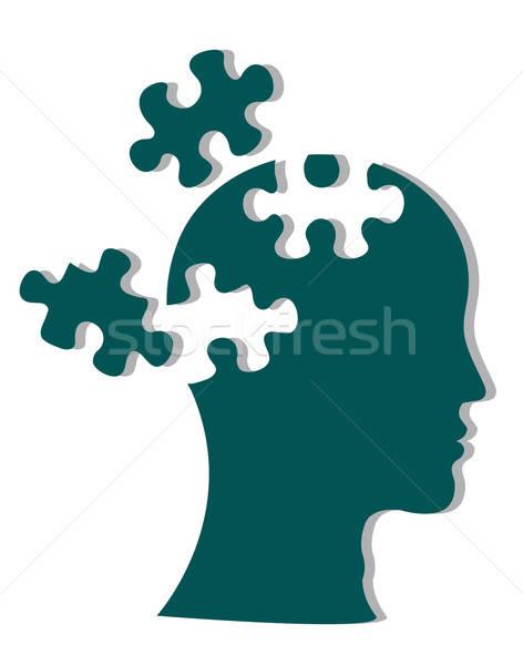 Stockfoto: Mensen · hoofd · gezicht · man · medische · achtergrond