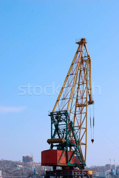 Crane in the port Stock photo © anbuch