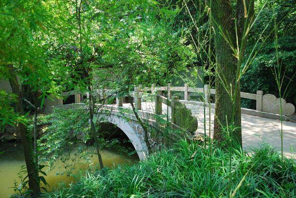 Bridge in asian park Stock photo © anbuch