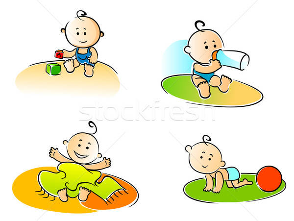 Funny childs Stock photo © anbuch