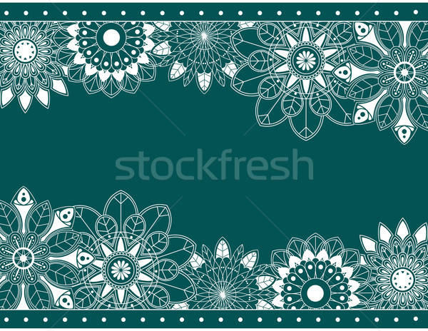 Abstract border with floral elements Stock photo © anbuch