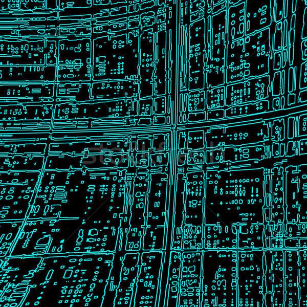 Computer abstract sfondo scienza circuito chip Foto d'archivio © anbuch