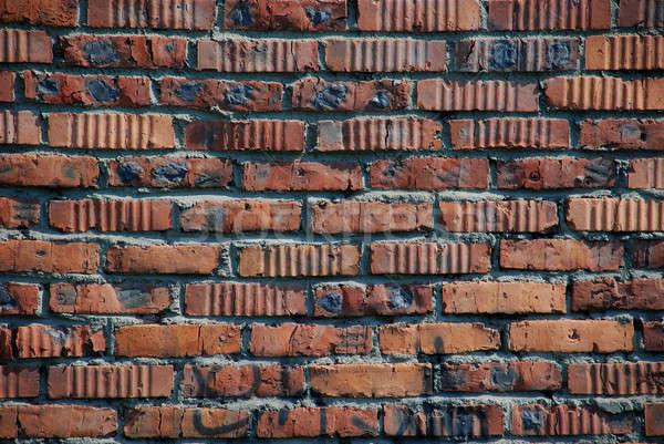 Parede de tijolos velho bom papel de parede projeto fundo Foto stock © anbuch