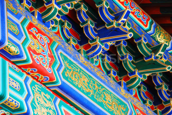 Elements of chinese roof Stock photo © anbuch