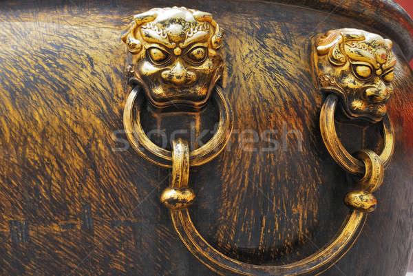 Antica bronzo gestire iva città proibita design Foto d'archivio © anbuch