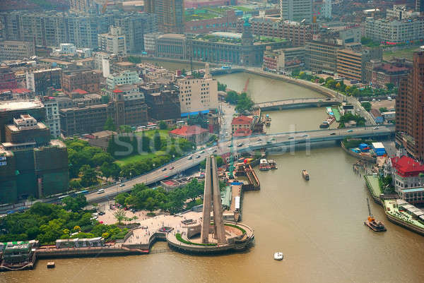 Huangpu bird eye view Stock photo © anbuch
