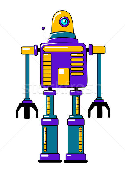 Colorful toy robot in vintage style Stock photo © anbuch