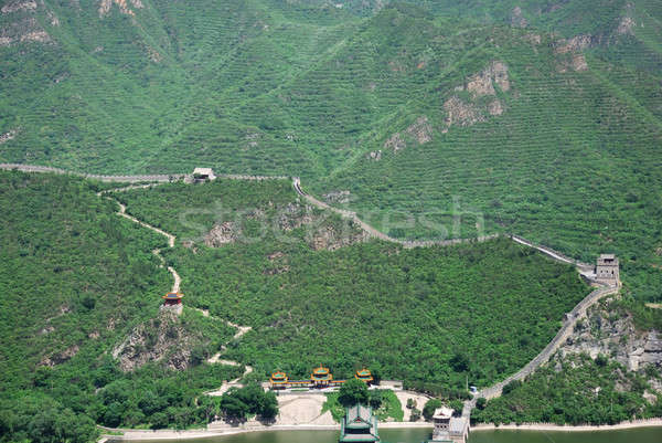 Nagy Fal Kína egy fal természet tájkép Stock fotó © anbuch