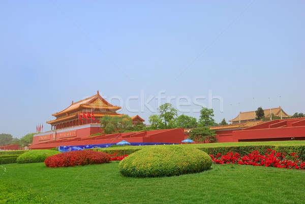 Сток-фото: ворот · башни · Запретный · город · Китай · здании · красный
