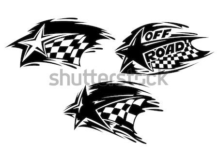 Af weg motor sport evenement icon Stockfoto © anbuch