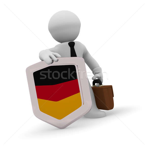 3d character with a German badge Stock photo © andreasberheide