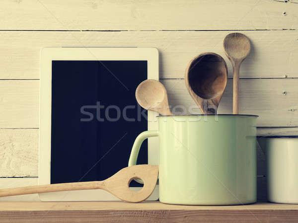 Stock fotó: Otthon · konyha · csendélet · klasszikus · stílus · öreg