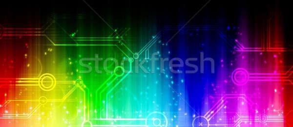 Colorful rainbow background Stock photo © andreasberheide