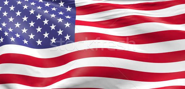 Bayrak Amerika Birleşik Devletleri Amerika 3D arka plan Stok fotoğraf © andreasberheide