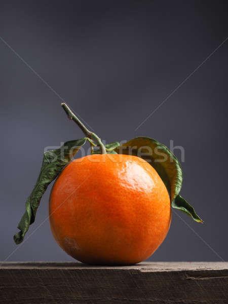 świeże organiczny pomarańczy drewna rustykalny drewniany stół Zdjęcia stock © andreasberheide