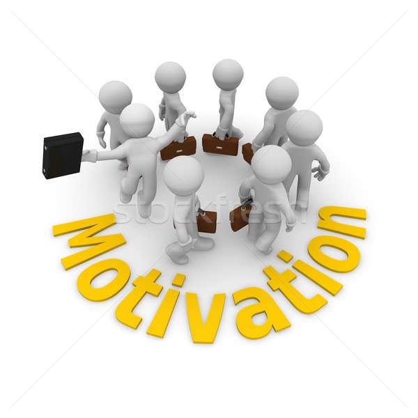 Motywacja biznesmen skoki wysoki małych firm Zdjęcia stock © andreasberheide