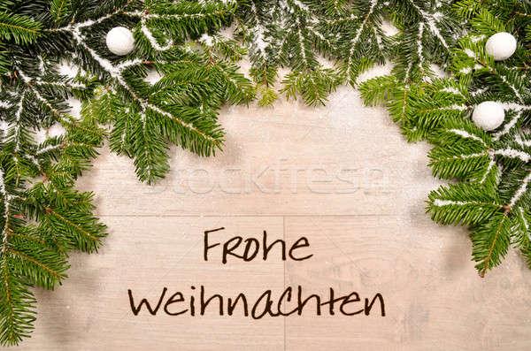 聖誕節 綠色 雪 木 樹 木 商業照片 © andreasberheide