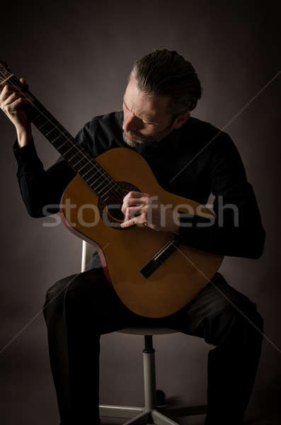 Guitarist in a studio Stock photo © andreasberheide