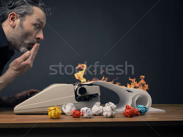 Stock photo: Editor with hot story