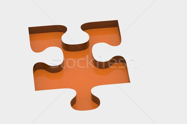 Orange piece of puzzle Stock photo © andreasberheide