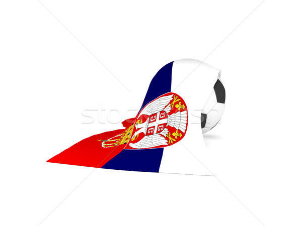 Soccer ball with the flag of Serbia Stock photo © andreasberheide