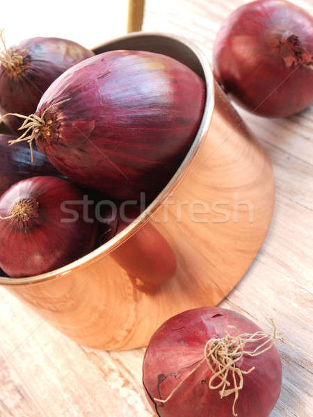 Red onions Stock photo © andreasberheide