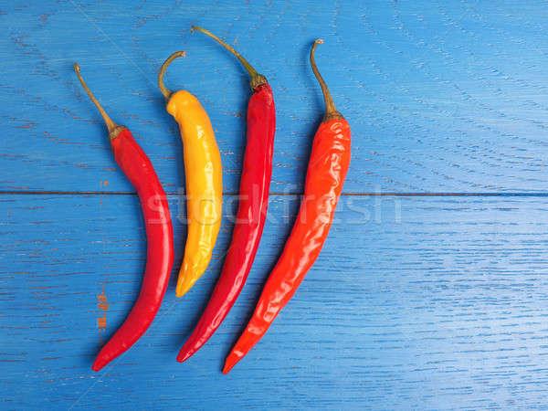 Four hot chilies Stock photo © andreasberheide