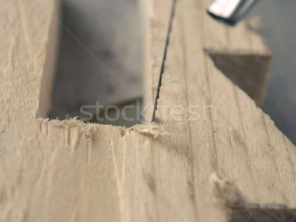 Wood working with a scroll saw Stock photo © andreasberheide