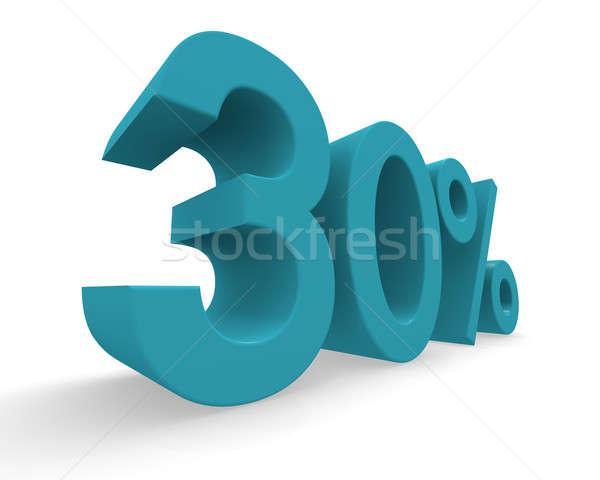 Dertig procent 3D turkoois witte Stockfoto © andreasberheide