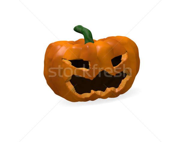 Halloween tök 3d render ijesztő lámpás háttér ősz Stock fotó © andreasberheide