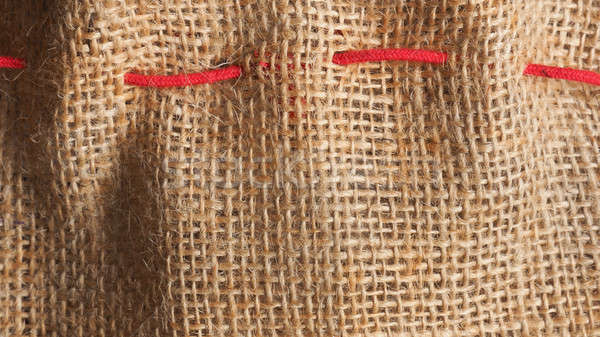 Toile de jute texture coup rouge fond Photo stock © andreasberheide
