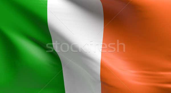 Bandera Irlanda 3D diseno fondo Foto stock © andreasberheide