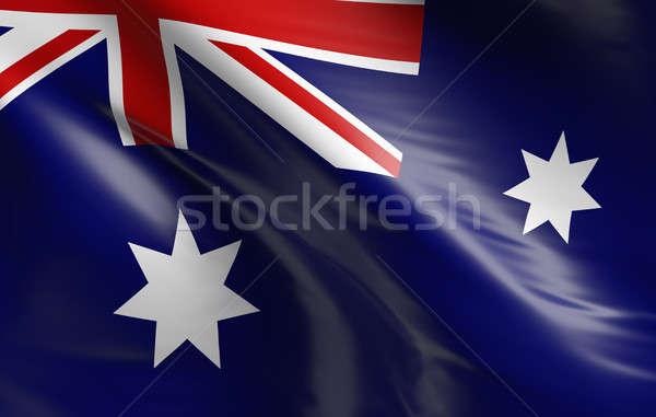 Bayrak Avustralya 3D dizayn arka plan Stok fotoğraf © andreasberheide