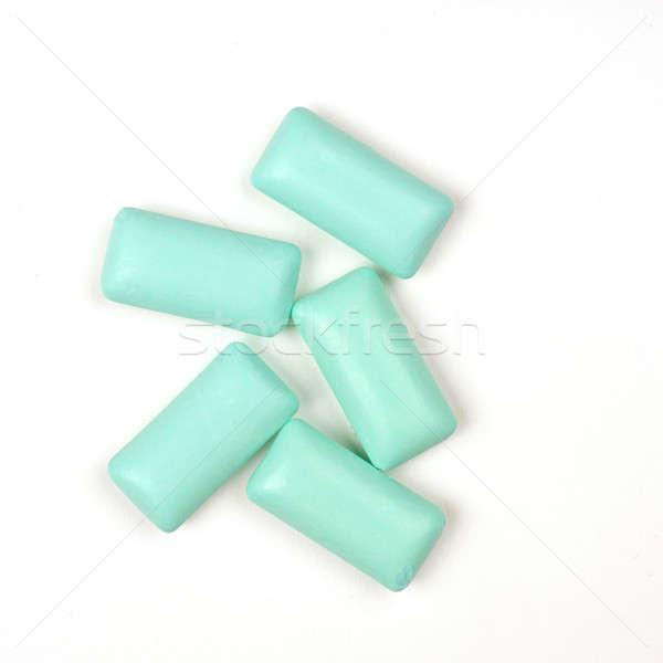 Cinque gum bianco sfondo blu Foto d'archivio © andreasberheide