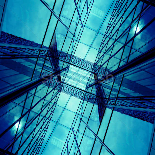 Moderno business edifici spazio testo ufficio Foto d'archivio © andreasberheide