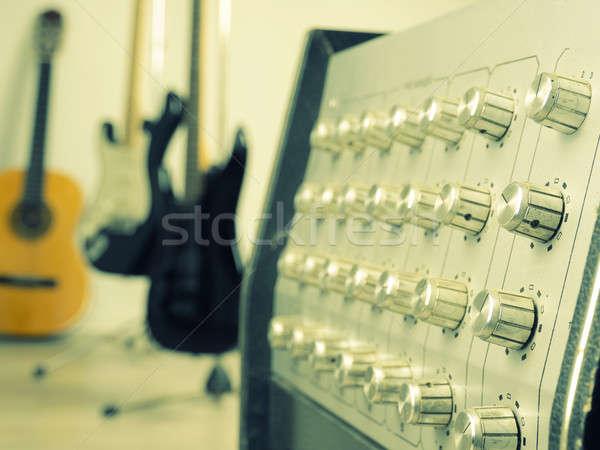 Studio uitrusting vintage kleur drie Stockfoto © andreasberheide