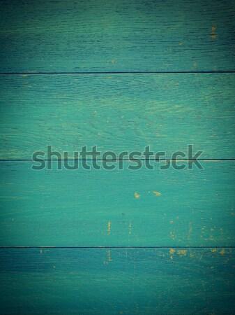 Viharvert öreg kék fa fából készült palánk Stock fotó © andreasberheide