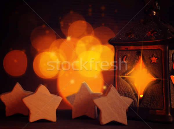Romantic Christmas background Stock photo © andreasberheide
