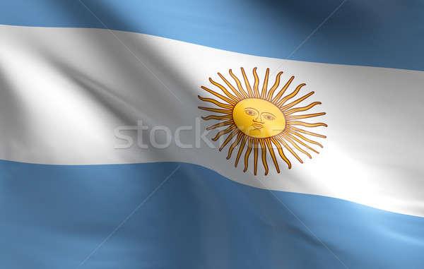 Bandera Argentina 3D textura fondo Foto stock © andreasberheide