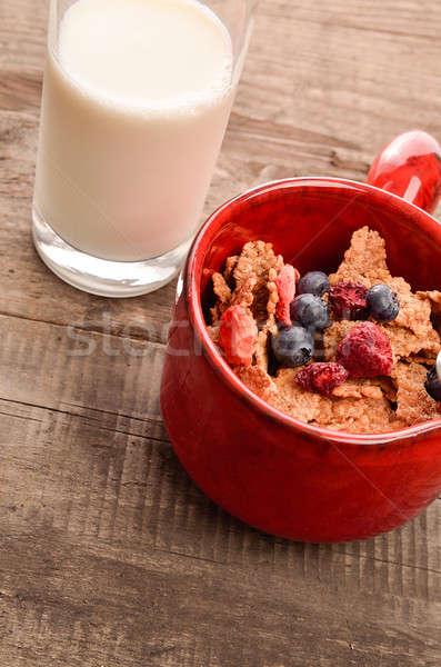 Sani colazione muesli latte rustico Foto d'archivio © andreasberheide
