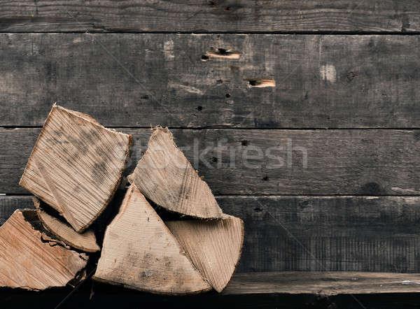 Yangın ahşap rustik ahşap duvar Stok fotoğraf © andreasberheide