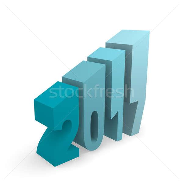 2017 Upswing concept image Stock photo © andreasberheide