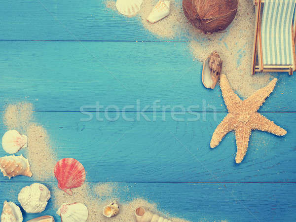 Vacation concept background with space for text Stock photo © andreasberheide