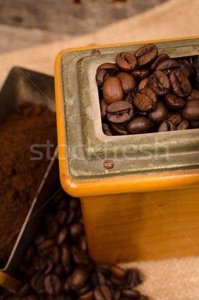 Coffee beans close up Stock photo © andreasberheide