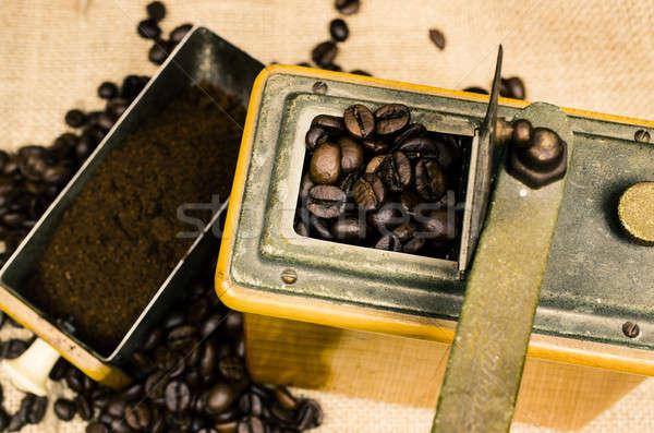 コーヒー ミル 豆 エスプレッソ 古い コーヒー ストックフォト © andreasberheide